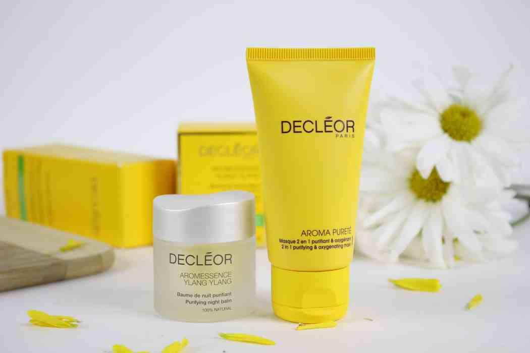 Decleor AROMESSENCE YLANG YLANG purifying night balm and Decleor Aroma Purete 2 in 1 purifying and exfoliating mask.