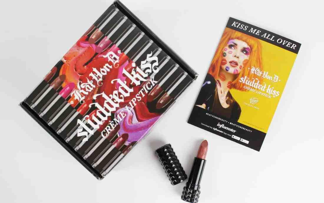 Kat Von D studded kiss creme lipstick in og lolita box