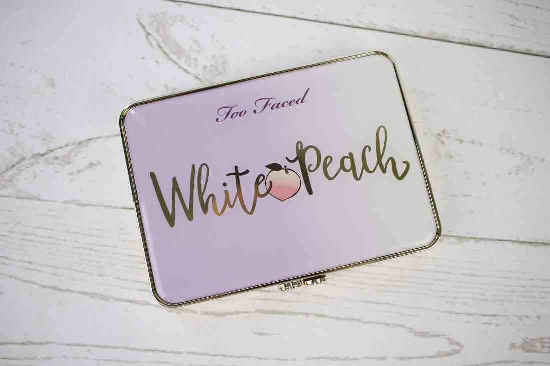 too faced white peach palette packaging