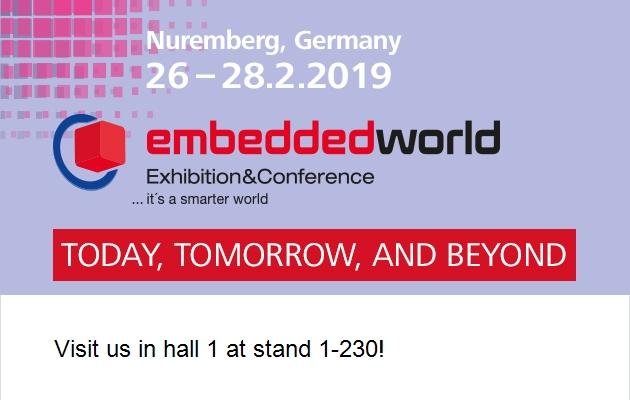 buy popular b26d0 6cf21 Retrouvez-nous au salon Embedded World 2019
