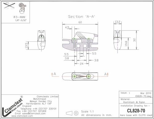 small resolution of cl828 70 aero cleat with cl270 racing micros with becket