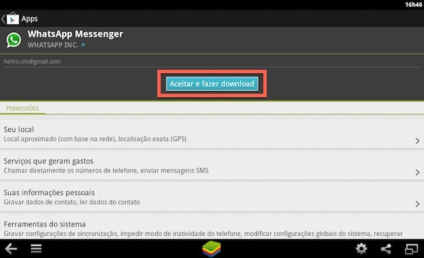 Instalando WhatsApp no BlueStacks