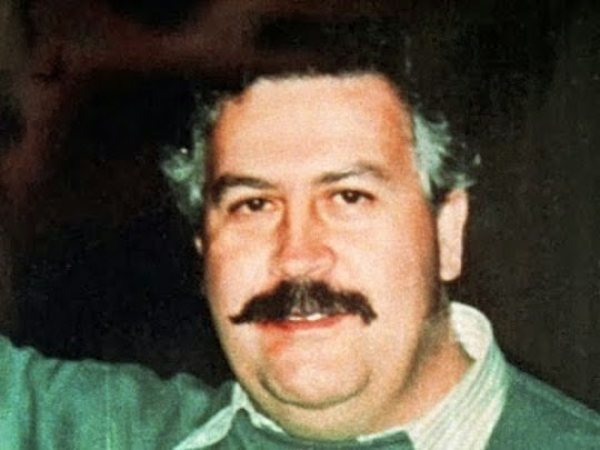 Pablo Escobar em foto tirada no ano de 1991.