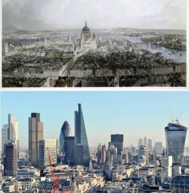 18.Londres, Reino Unido fim do século 19 e hoje em dia