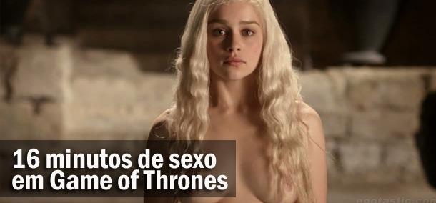 16 minutos de cenas de nudez e sexo em Game of Thrones, estreia 6ª temporada hoje