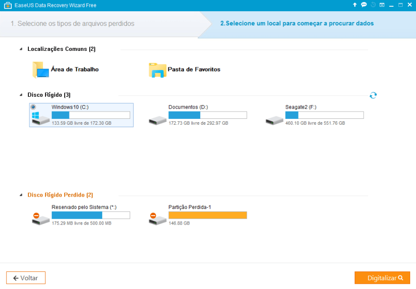 EaseUS Data Recovery Wizard Free2