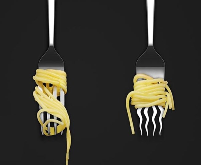 9. Este garfo perfeito para enrolar espaguete