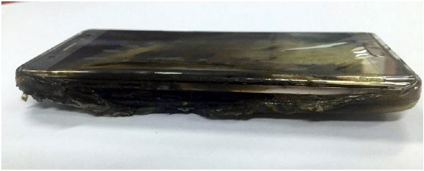 Samsung Galaxy 7 problemas com baterias explodindo