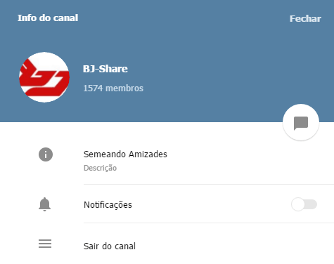 BJ-Share lança Canal no Telegram, siga