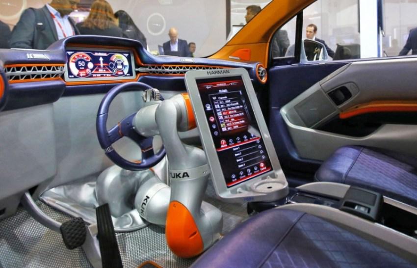 Harman's concept car at Mobile World Congress 2016