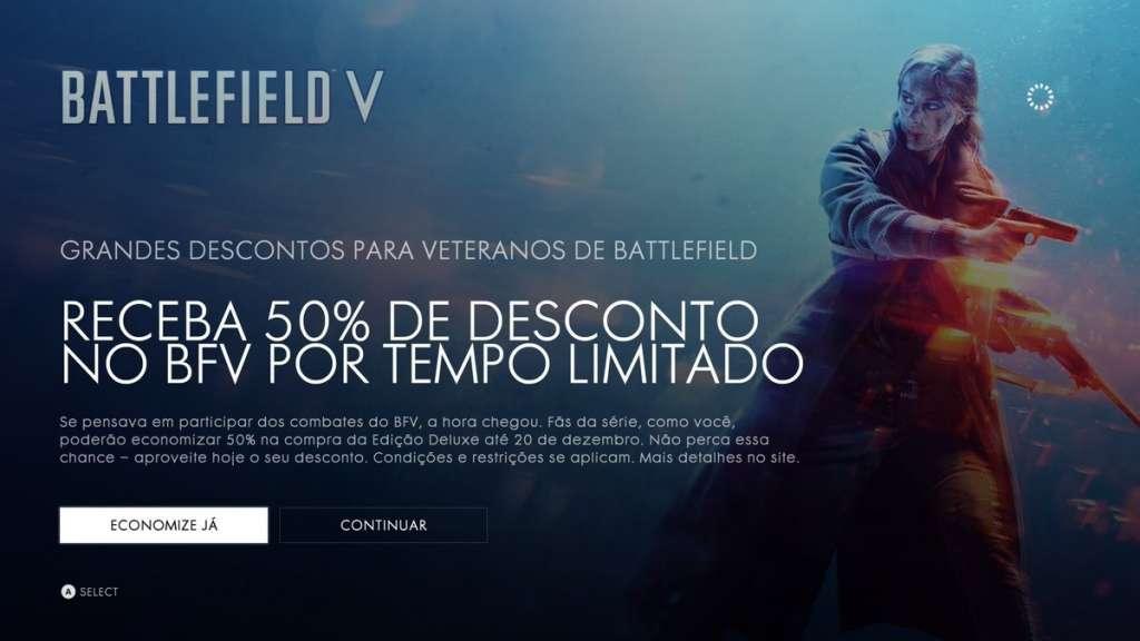 Battlefield está com 50% de desconto para os jogadores veteranos, por tempo limitado