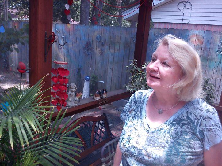 Mom in the sunroom