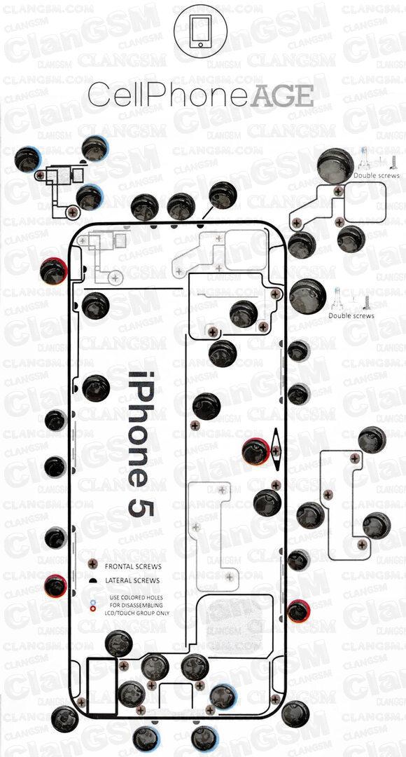 Imágenes Distribución De Tornillo De Iphone Para Imprimir