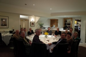 Friday night (17th April 2015) an informal meal in Durham