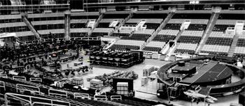 Setting up for Bon Jovi
