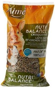 Aime Nutri'Balance Croquettes pour Lapin Nain et Cochon D'inde 1 Kg – Lot de 5