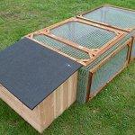Enclos + maison pour rongeur 300x100x50 cm (Lxlxh) Made in France