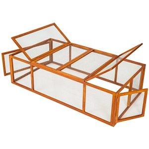 TecTake Cage enclos clapier XXL à lapins lièvre cobaye | (LxlxH) : 181 x 90 x 49 cm
