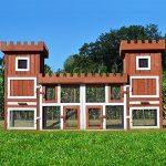 Zooprimus 260 x 54 x 128 cm Château 042 Cage Clapier Enclos lapin Extérieur en bois de haute qualité