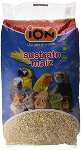 iOn substrat de maïs pour petits animaux, rongeurs et oiseaux, 10L