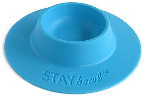 STAYbowl Tip-Proof Ergonomique pour Animal Domestique Bol pour Cochon d'Inde et d'autres Petits Animaux de Compagnie; Bonnets 1/4Taille; Bleu Ciel