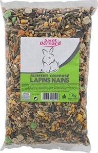 SAINT BERNARD Aliment pour Lapins Nains Sac de 1 kg