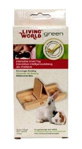 Living World Green Gamelle à couvercles pivotants pour gerbille/cochon d'Inde/lapin Jouet intelligent Grande taille