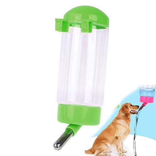 Hilai 500ML pour Animal Domestique Bouteille d'eau à Suspendre No Drip Abreuvoir Distributeur pour Chiot Chat Lapin Petits Animaux, automatiquement d'alimentation pour l'eau (Rose)
