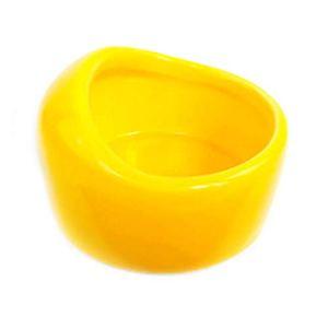 NYDZDM Gamelle de voyage portable en céramique pour animal domestique, hamster, lapin, gamelle de voyage pour nourriture Totoro, petits bols mudium, accessoires pour animaux de compagnie jaune