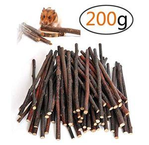 PAWACA Pet Snacks à mâcher Jouets, Naturel Apple Bâtons Molaire Wood friandises Jouets à mâcher bâton Jouets friandises pour Chinchilla, cochons d'Inde, Hamsters, Lapins, perroquets, etc.