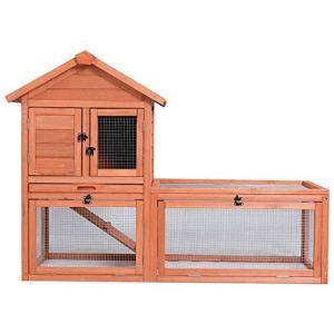 DAXINYANG Lapin Lapin extérieur en Bois de Poulet Coops Cages avec Plateau Rongeur Lapin Hamster Cage