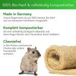 Tapis pour rongeurs 100% Chanvre Organique sur Rouleau de 5 m de Longueur, 50 cm de Largeur, 5 mm d'épaisseur