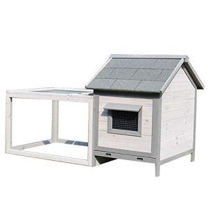Zengqhui Animaux en Plein air Maison Lapin Nest Maison Pet Dog House Cat House Niche extérieur Pet Shelter Utilisation Best Pet Garden Houses (Couleur : Gris, Size : 146x75x83cm)