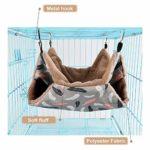 Hamac pour Animaux de Compagnie, Hamac en Cage   Hamac Doux Double Couche pour Hamster   Lit Chaud pour Cochon d'Inde pour Hamster   Chinchillas   Écureuils   Cochon d'Inde (Color : Pink, Size : S)