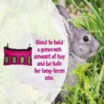 Sac à foin à suspendre pour lapin, cochon d'Inde, chinchilla pour animaux de compagnie – Accessoires pour animaux domestiques – Noir