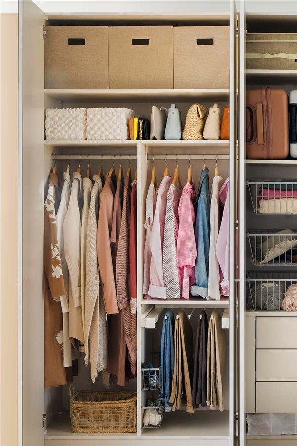 Trucos para aprovechar el espacio del armario