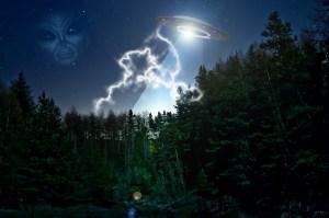 alien in the sky