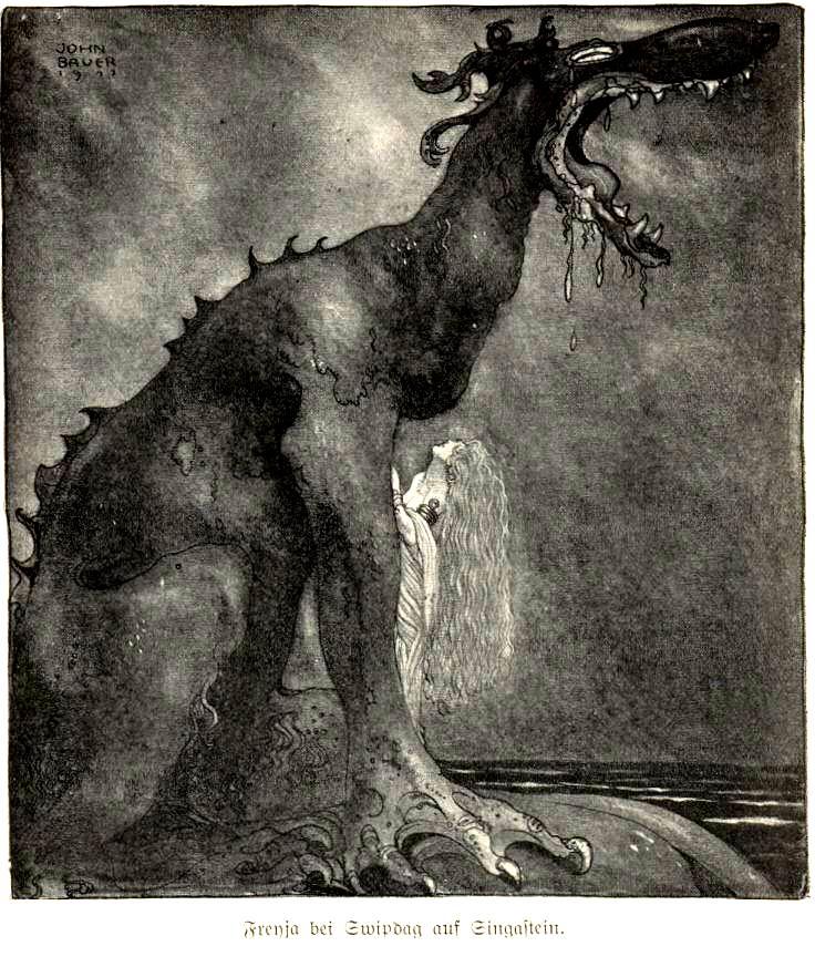 Woman transformed into dragon.