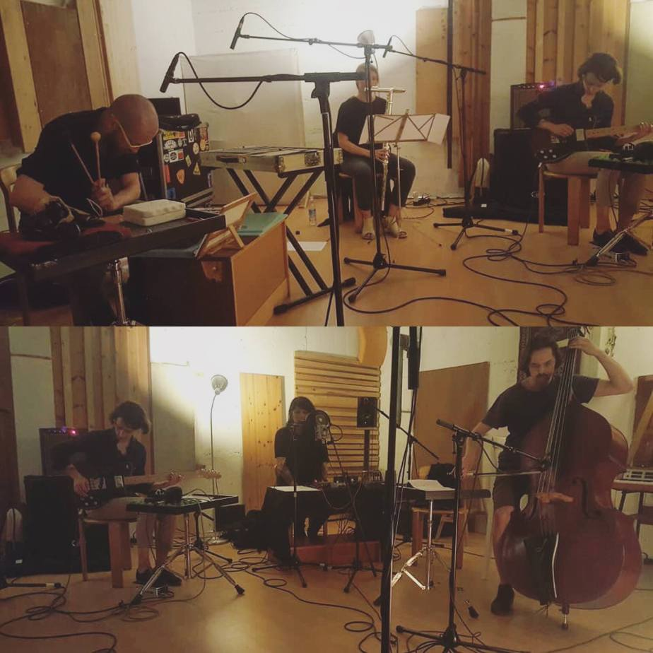Recording of 'Levitas' a piece by Diatribes (d'Incise & Cyril Bondi), performed by Stephane Garin, Mike Majkowski, Golem Mécanique, Rebecca Lane, Clara de Asís.  Geneva, May 2018.