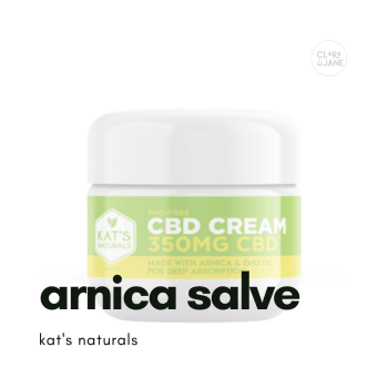 CBD topical salve with arnica for pain
