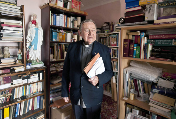 Fr Pat Culligan at the parochial house in Carrigaholt. Photograph by Declan Monaghan