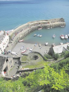 Looking down on the beautiful harbour of Clovelly.
