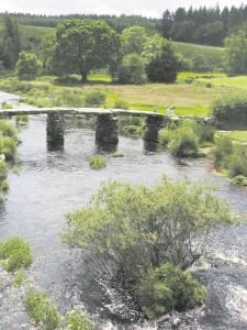 The 13th century Postbridge is in the heart of Dartmoor.