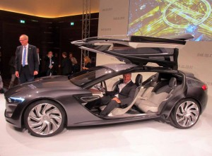 Opel designer, Mark Adams at the launch of his creation, the Monza. Looking on is Opel CEO, Dr Karl-Thomas Neumann.