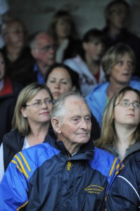 Henry Neylon, president of the Michael Cusack's Club looks on  during the Clare GAA 125 anniversary match in Carron in July 2009. Photograph by John Kelly.