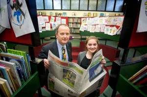 Junior category winner Aoife Daly, St Annes Killaloe with John Galvin, Clare Champion Managing Director.