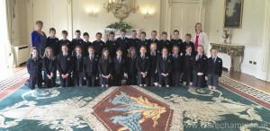 The Quin schoolchildren who visied Áras an Uachtaráin