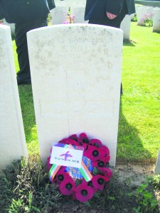 The grave of Corporal Hill from Miltown Malbay