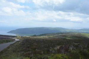 A stunning view down to the sea from the top of Exmoor.