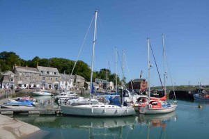 The beautiful port of Padstow.